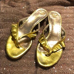 Golden / Kitten heels
